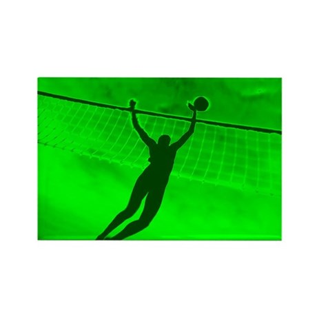 VOLLEYBALL GREEN Rectangle Magnet