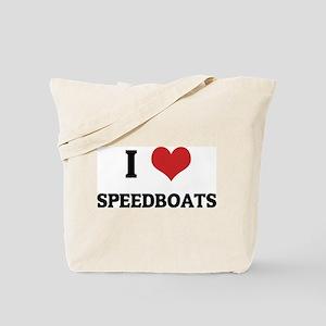 I Love Speedboats Tote Bag