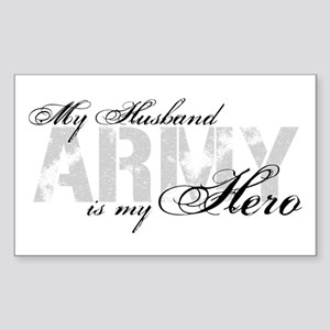 Husband is my Hero ARMY Rectangle Sticker