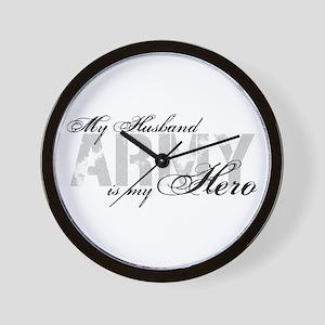 Husband is my Hero ARMY Wall Clock