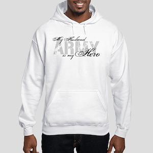 Husband is my Hero ARMY Hooded Sweatshirt