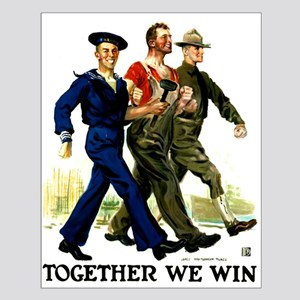 Together We Win Small Poster