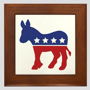 Democrat Donkey Framed Tile