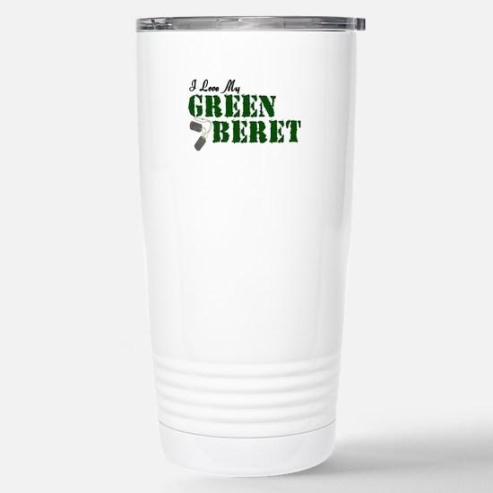 I Love My Green Beret Stainless Steel Travel Mug