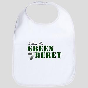 I Love My Green Beret Bib