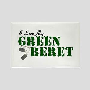 I Love My Green Beret Rectangle Magnet