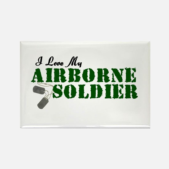 I Love My Airborne Soldier Rectangle Magnet