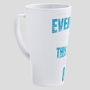 80th Birthday Gift Retro Eighty 80 17 oz Latte Mug