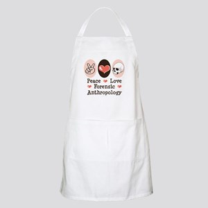 Peace Love Forensic Anthropology BBQ Apron