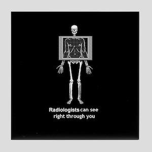 Reverse XRay Radiologists Tile Coaster