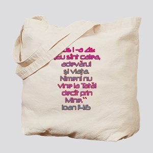 John 14:6 Romanian Tote Bag