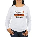 Support Leukemia Awareness Women's Long Sleeve T-S