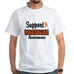 Support Leukemia Awareness White T-Shirt