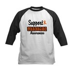 Support Leukemia Awareness Kids Baseball Jersey
