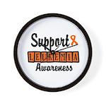 Support Leukemia Awareness Wall Clock