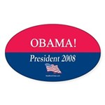 """Obama President"" Oval Sticker (50)"