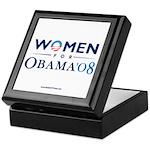 """Women for Obama"" Keepsake Box"