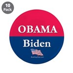 """""""Obama-Biden"""" 3.5"""" Button (10)"""