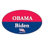 """""""Obama-Biden"""" Oval Sticker (50)"""