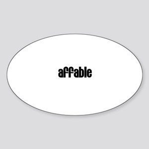Affable Oval Sticker