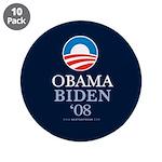 """""""Obama Biden 2008"""" 3.5"""" Button (10)"""