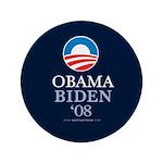 """""""Obama Biden 08"""" 3.5"""" Button (100)"""