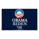 """Obama-Biden 08"" Sticker Rectangle (10)"