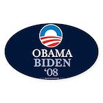 """""""Obama-Biden 2008"""" Sticker Oval (10)"""