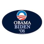 """""""Obama-Biden 2008"""" Sticker Oval (50)"""