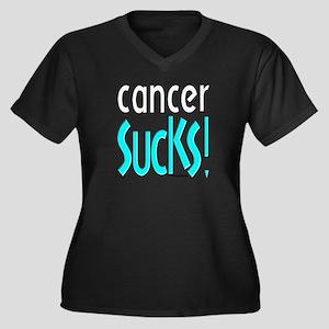 Cancer Sucks! Women's Plus Size V-Neck Dark T-Shir