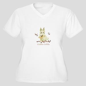 Thanksgiving Scot Women's Plus Size V-Neck T-Shirt