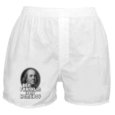 Benjamin Franklin Is My Homeboy Boxer Shorts