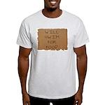 Will Swim for Food Ash Grey T-Shirt
