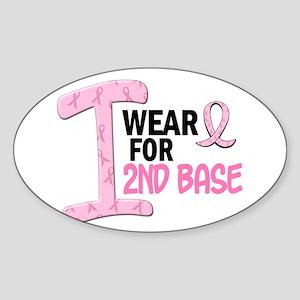 I Wear Pink For 2nd Base 21 Oval Sticker