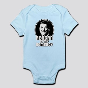 Ronald Reagan Is My Homeboy Infant Bodysuit