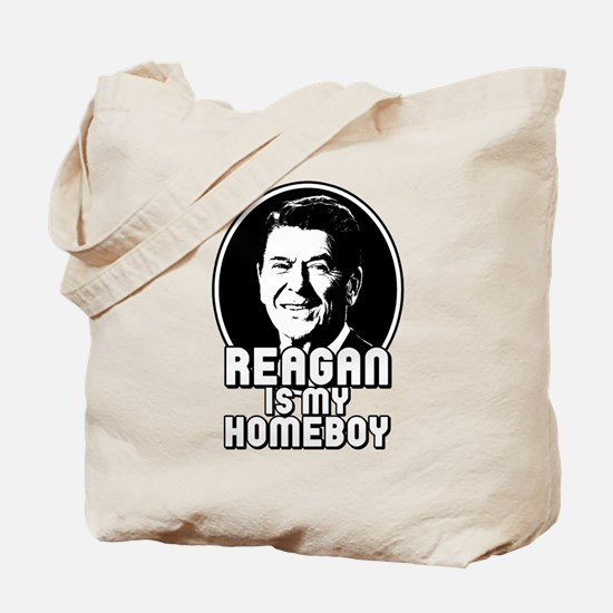 Ronald Reagan Is My Homeboy Tote Bag