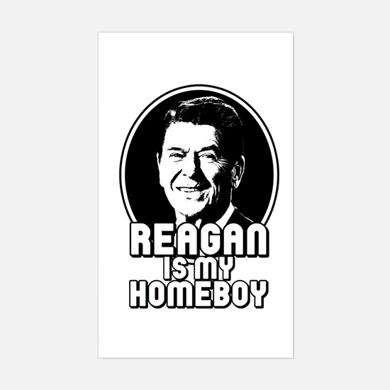 Ronald Reagan Is My Homeboy Rectangle Decal