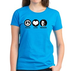 Peace Love Reagan Women's Dark T-Shirt