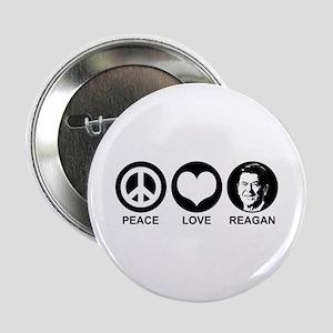 "Peace Love Reagan 2.25"" Button"