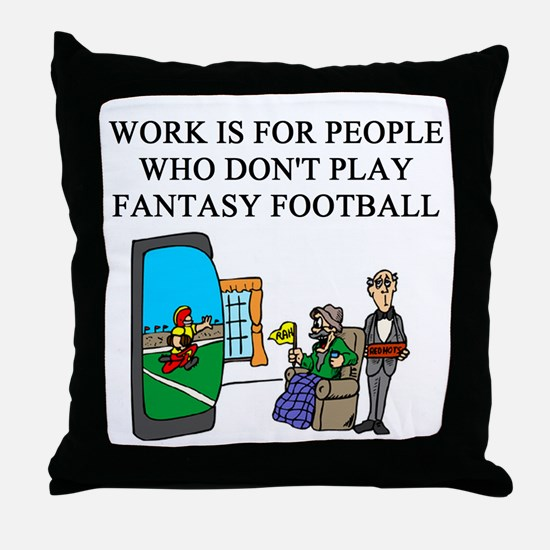 fantasy football fun gifts t- Throw Pillow