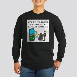 fantasy football fun gifts t- Long Sleeve Dark T-S