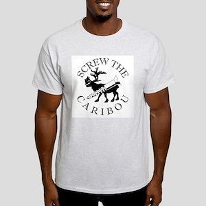 Screw Caribou (Drill Alaska) Ash Grey T-Shirt