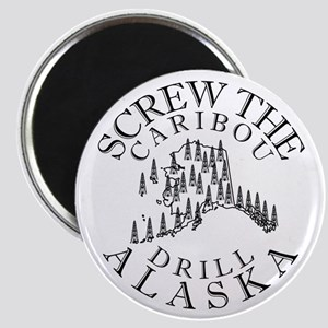Screw Caribou (Drill Alaska) Magnet