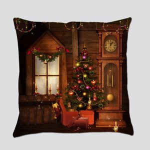 Old Christmas Everyday Pillow
