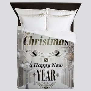 Christmas Greetings Queen Duvet