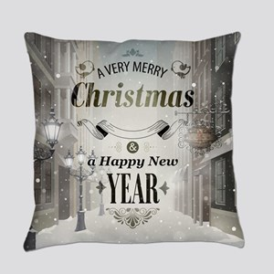 Christmas Greetings Everyday Pillow