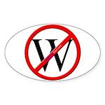 """""""No W"""" Oval Sticker"""