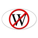 """""""No W"""" Oval Sticker (10)"""
