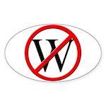 """""""No W"""" Oval Sticker (50)"""