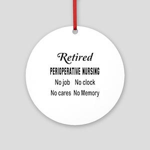 Retired Perioperative nursing Round Ornament